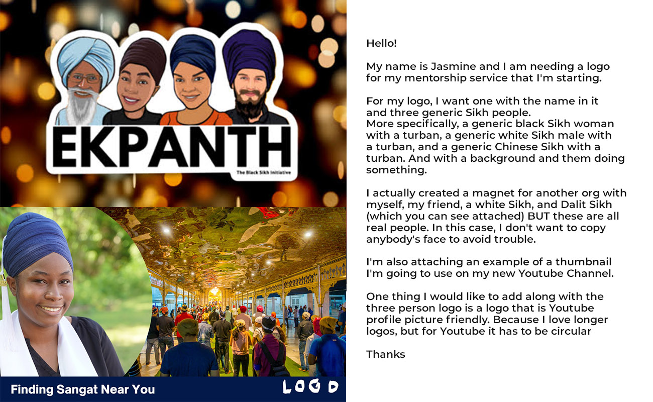 Embracing sikhi Cartoon Logo Brief from Client